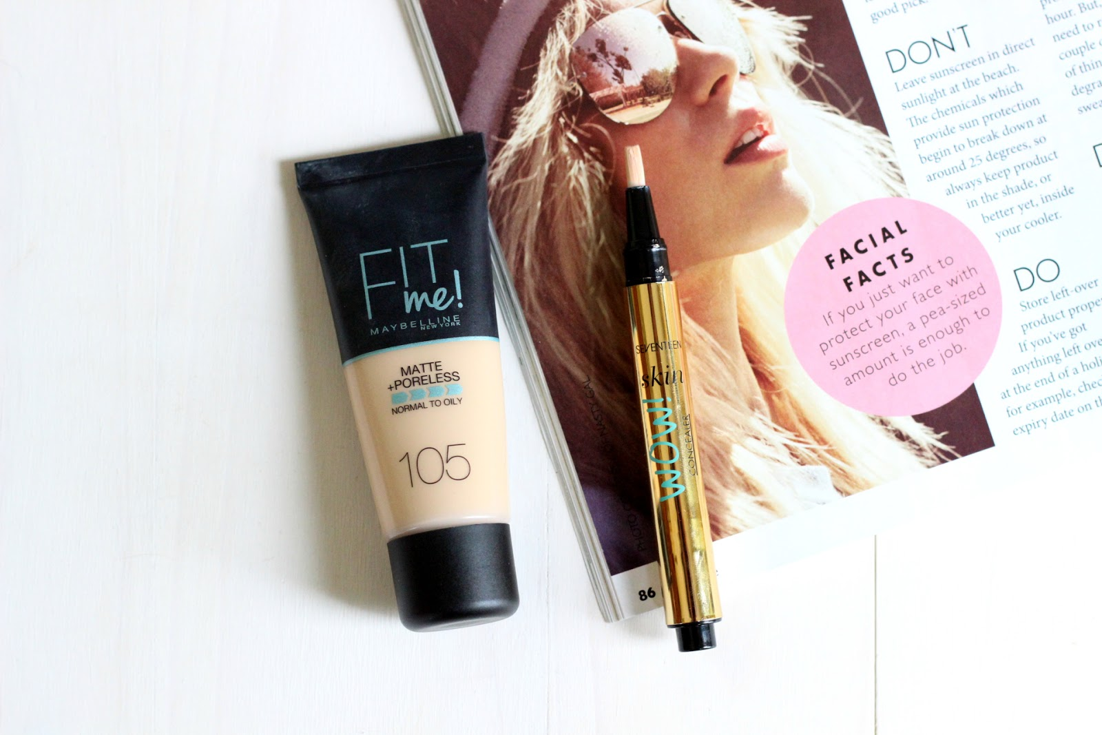 maybelline foundation and concealer