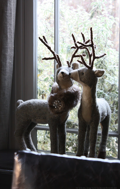 l&l at home - deer couple - image by lb for linenandlavender.net -  http://www.linenandlavender.net/2013/12/in-new-year-and-always.html