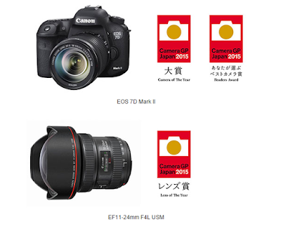 Canon EOS 7D Mark II, EF11-24mm f/4L USM Lens win top Camera Grand Prix Awards