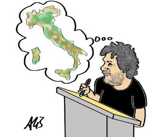 Movimento arturo, makkox, gazebo, tv, umorismo, vignetta