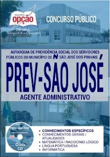Apostila do Concurso Prev-São José dos Pinhais 2017.