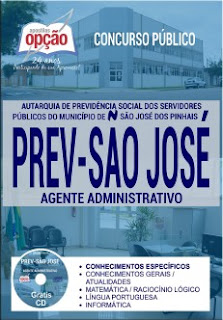 Apostila Prev-São José - Agente Administrativo - GRÁTIS testes