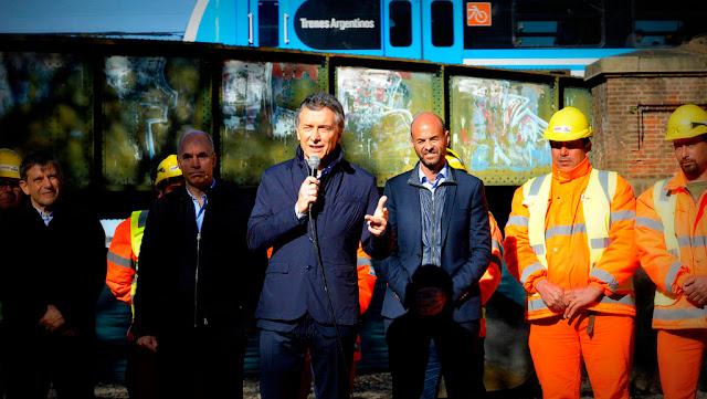 Macri presentó el inicio de las obras del viaducto del Ferrocarril Mitre