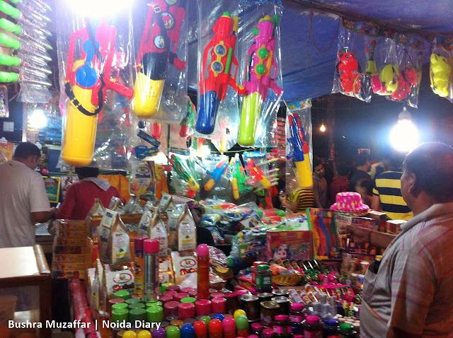 Noida Diary: Holi Shopping in the evening at Brahmaputra Market, Noida