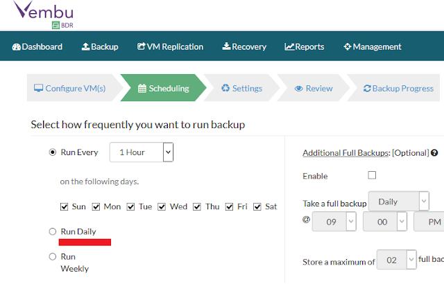 Vembu: Configurar job de backup - parte 1