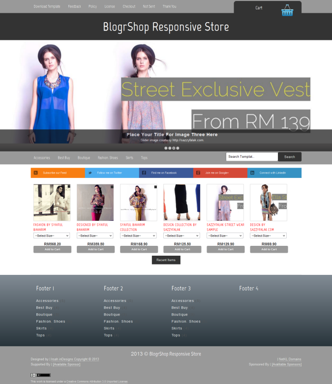 BlogrShop Responsive E-commerce Blogger Template