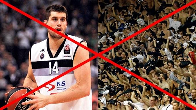 Partizan u Železniku ipak bez Gagića, ali i navijača!