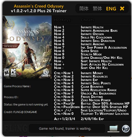 Cheat Game Assassin's Creed Odyssey PC