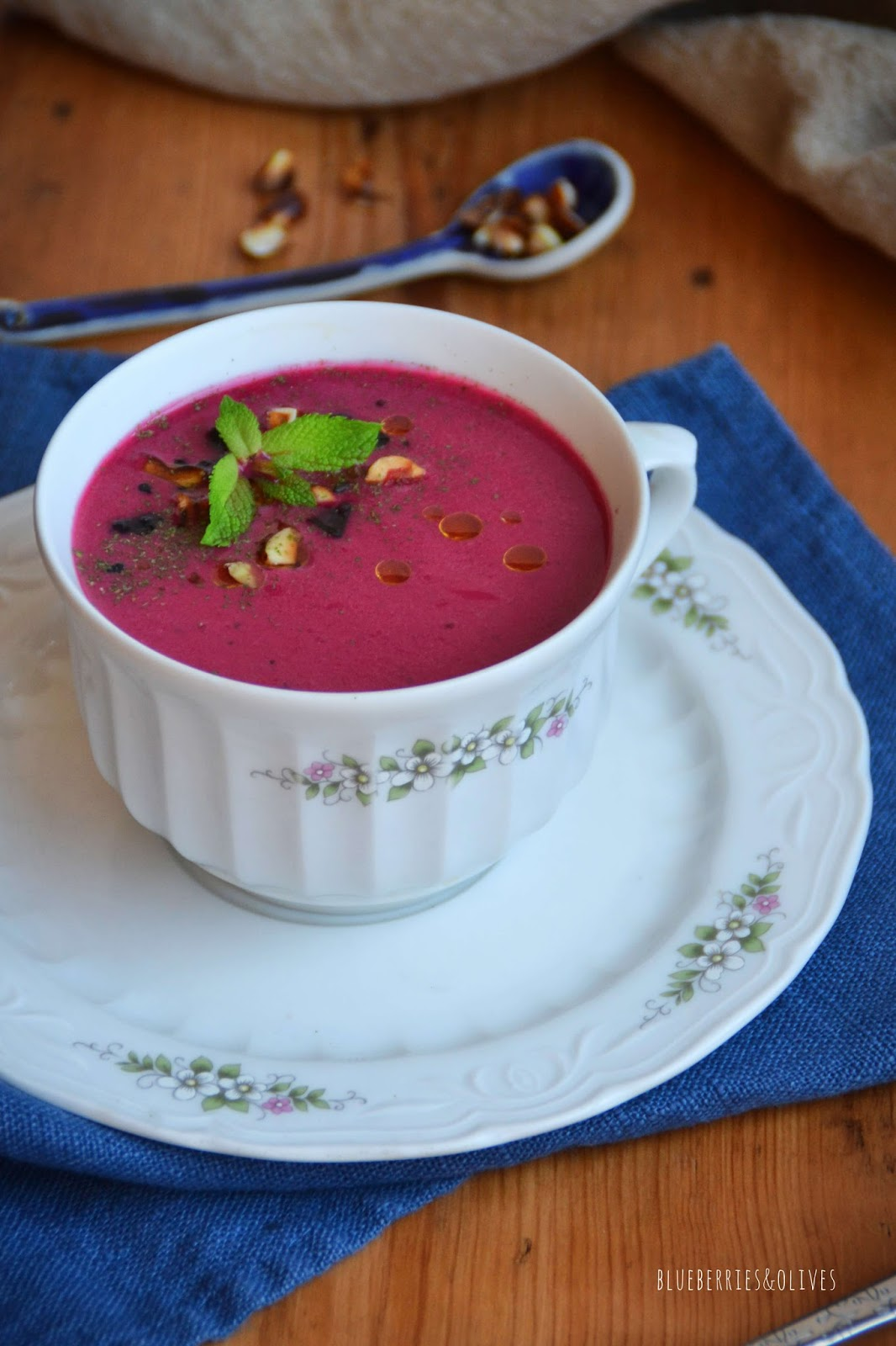 LEEK, FENNEL AND BEETROOT COLD SOUP
