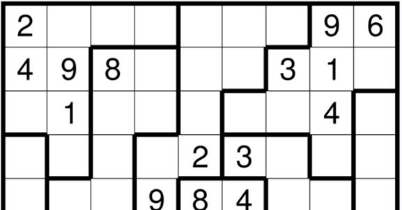 It's just an image of Nifty Irregular Sudoku Printable
