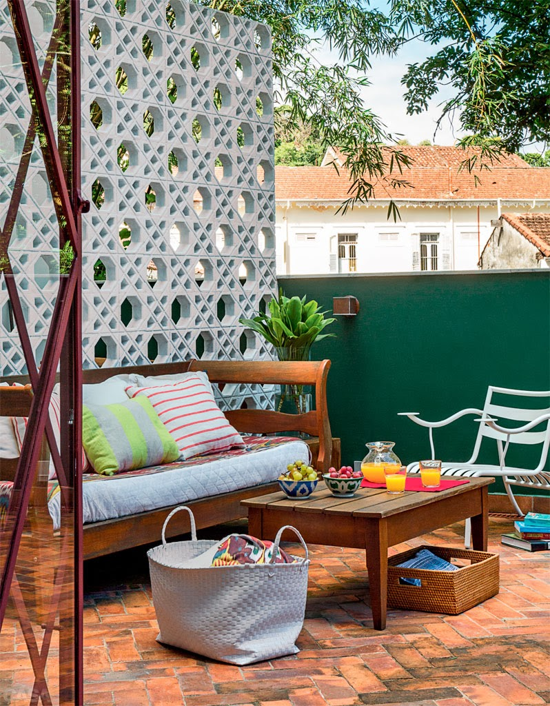 parede divisoria no terraço