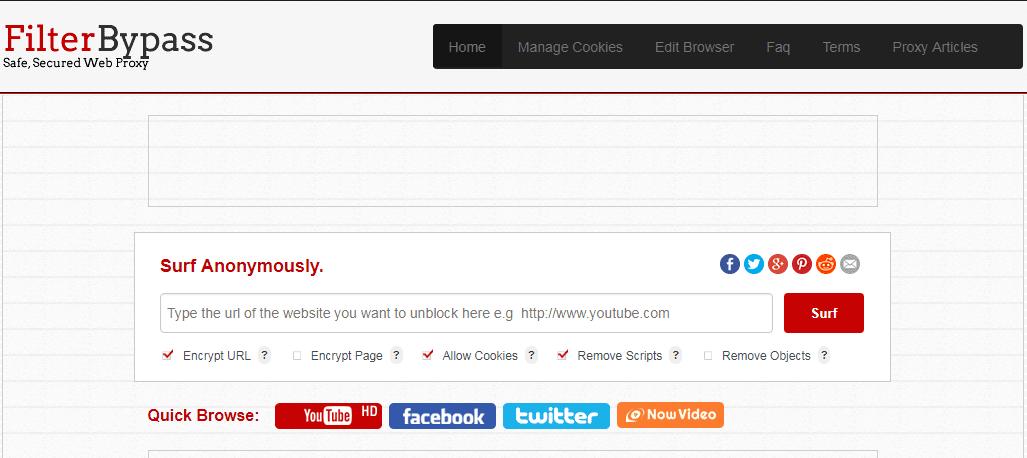 situs web proxy gratis terbaik FilterByPass