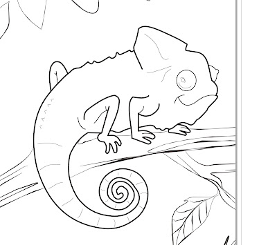 Coloring Pages Zoo Iguanas