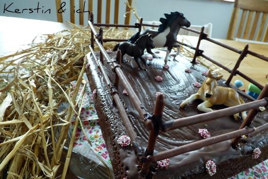 Kindergeburtstag Kuchen Pferde Backen Selbermachen