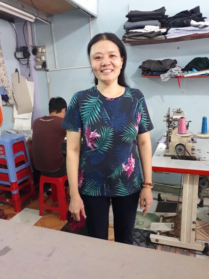 Sản phẩm đầu tay của học viên lớp cắt may thời trang gia đình