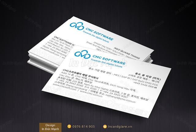 Mẫu card visit Công ty CMC