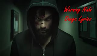 Warning Nahi Dunga - Blank