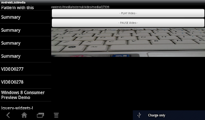 Play media in Fragment, run on Android 3.0 Tablet.