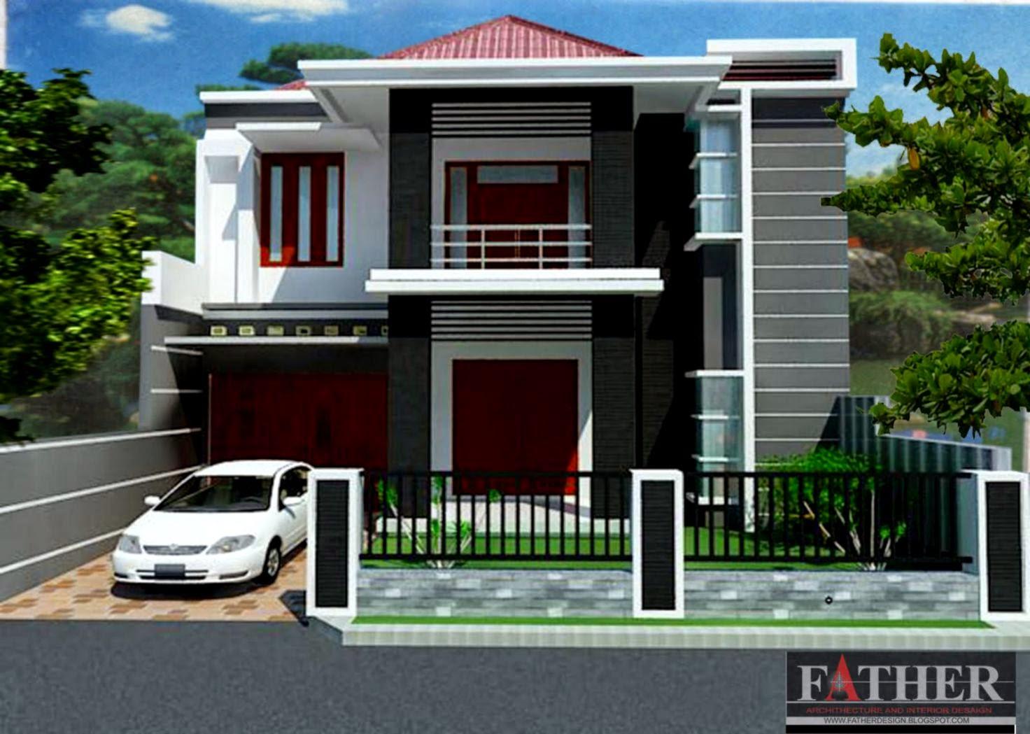 Gambar Rumah Mewah Minimalis Lantai Dua