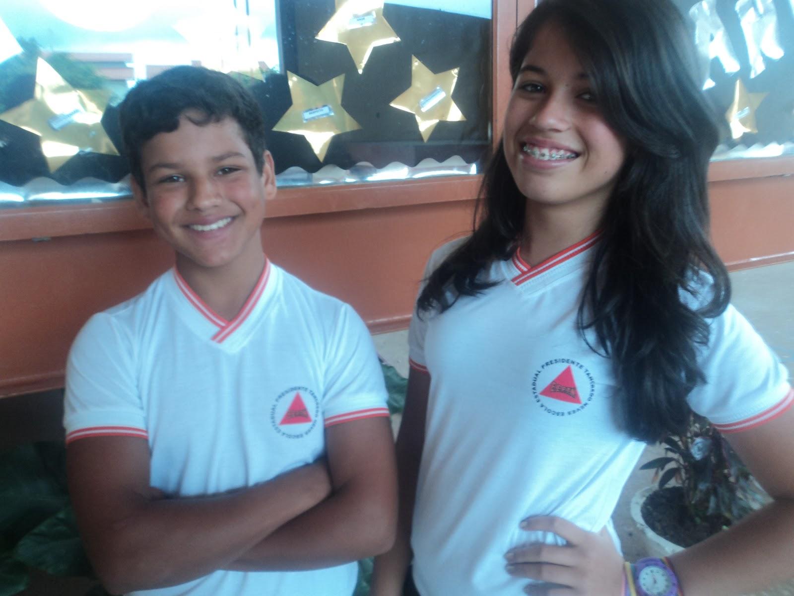 63e5ae3eb1411 Escola Estadual Presidente Tancredo Neves  Escola tem novo uniforme