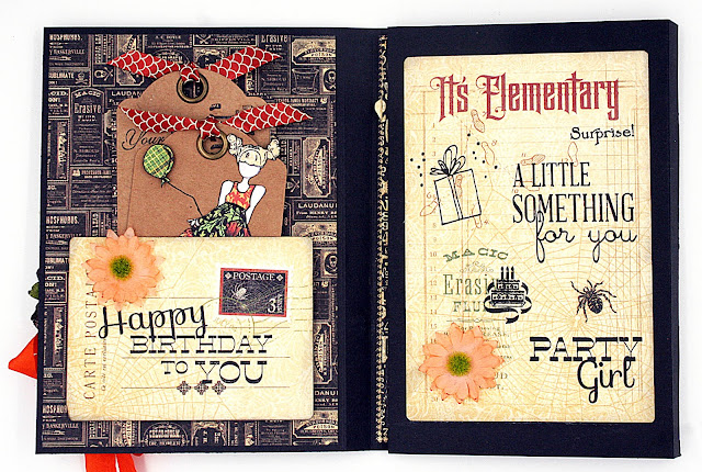 Handmade Tri-fold Birthday Card with Graphic 45 Master Dectective