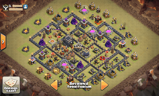 "War Base TH 9 Terkuat Anti Hog ""TOWN HALL 9"""