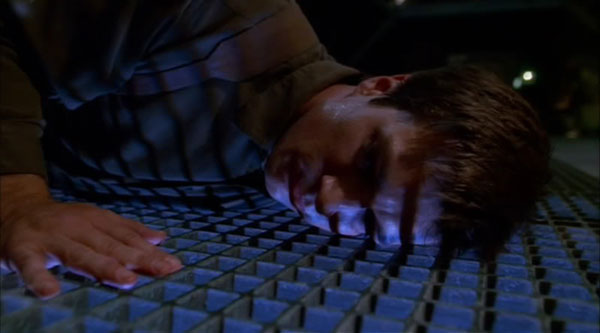 "Nathan Fillion in the Firefly episode ""Out of Gas""."
