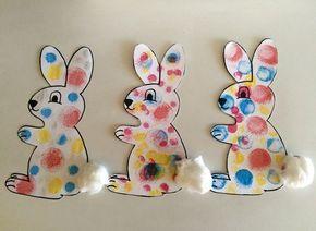 Petits lapins à mettre en peinture