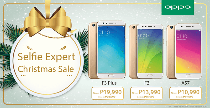 OPPO announces #SelfieExpert Christmas sale!