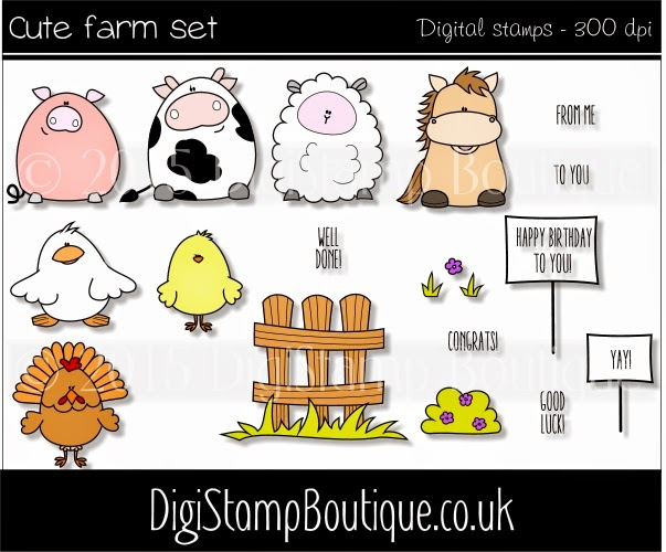 Cute Farm Set