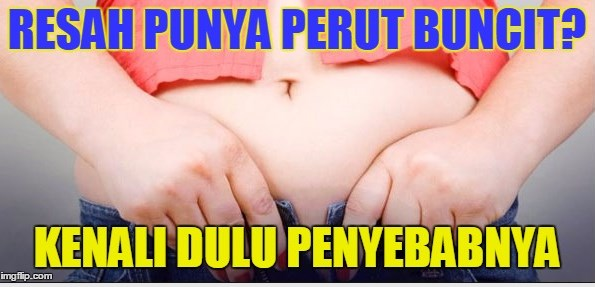 Bagaimana caranya biar perut tidak jadi gendut seperti ibu hamil??