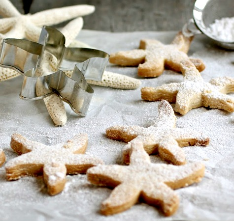 Starfish Shortbread Cookies