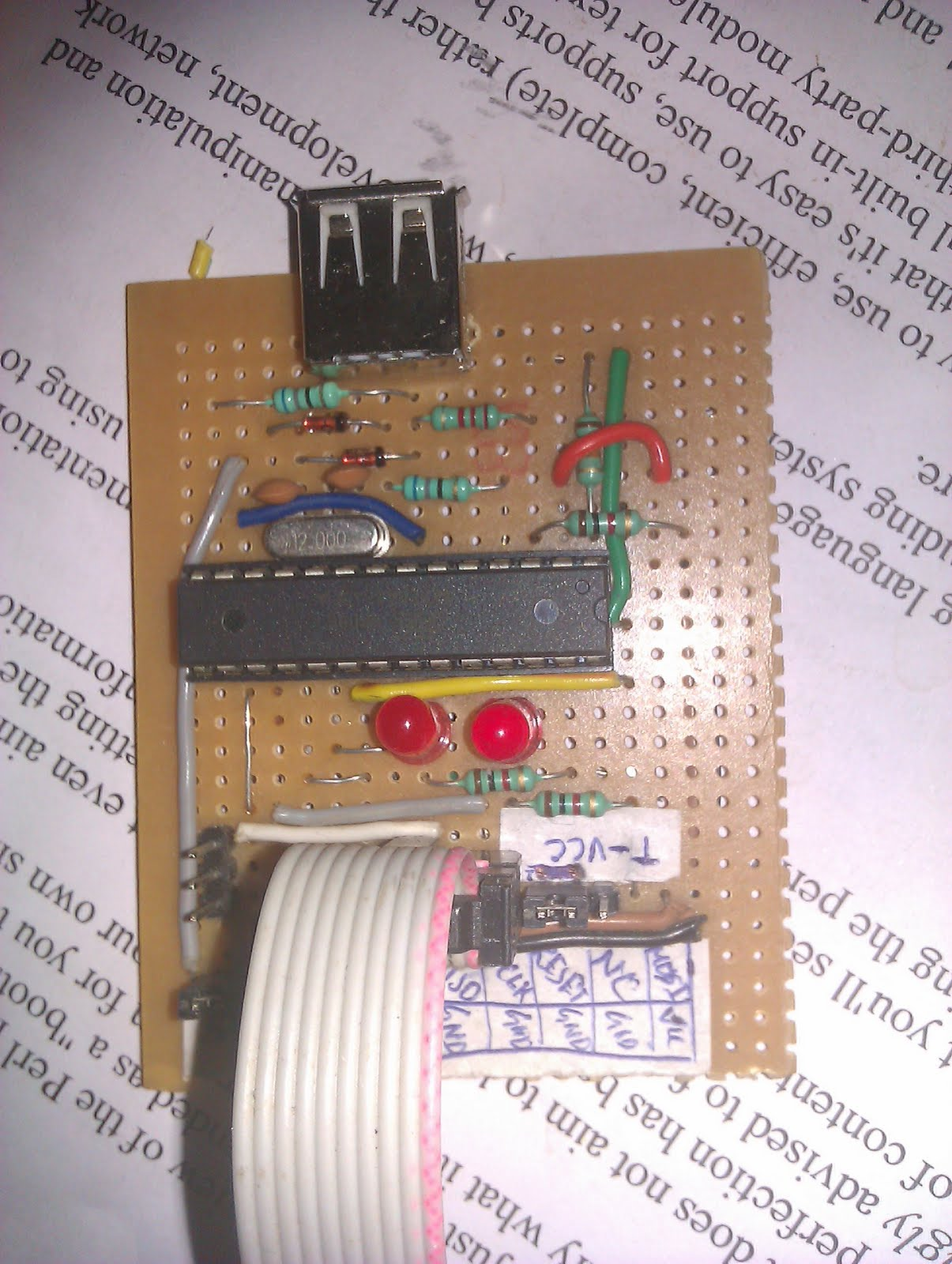 Usbasp Usb Programmer For Atmel Avr Controllers My Linux Using Atmega8 Prototype