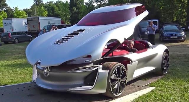 未来的過ぎるデザインのルノーのコンセプトカー「TREZOR」の走行シーンがスゴい!