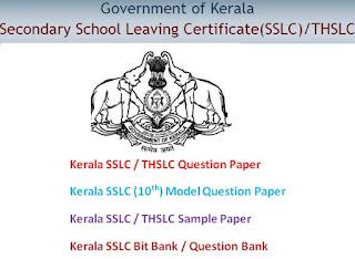 Kerala SSLC / THSLC Model Question Paper & Blueprint 2017