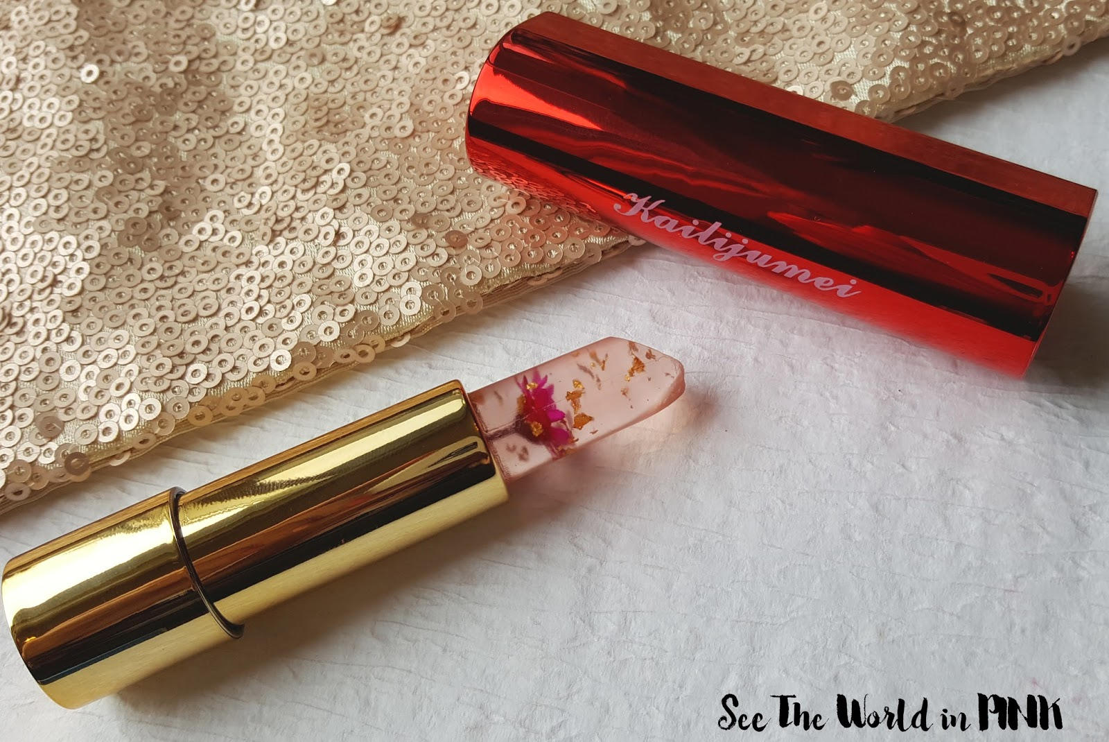 Kailijumei Flower Lipstick in Flame Red - Try on and Review!