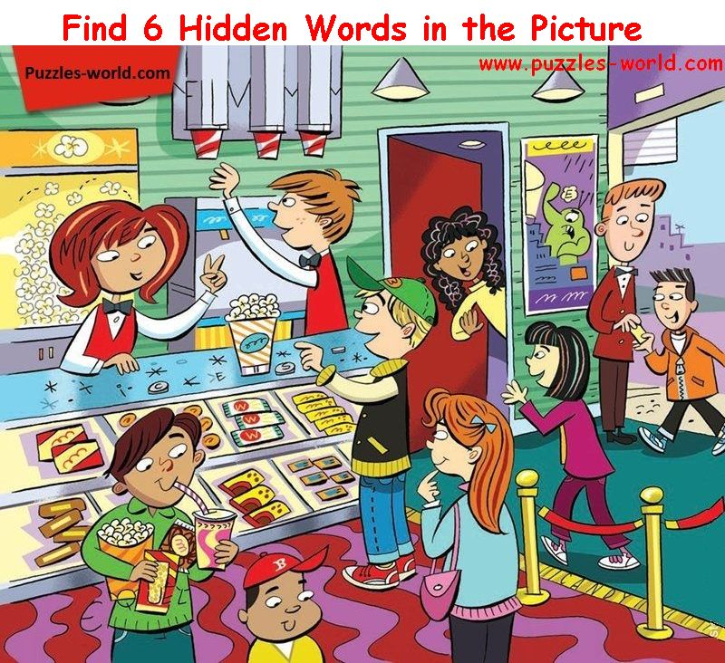 Find Six Hidden Words - Part 14