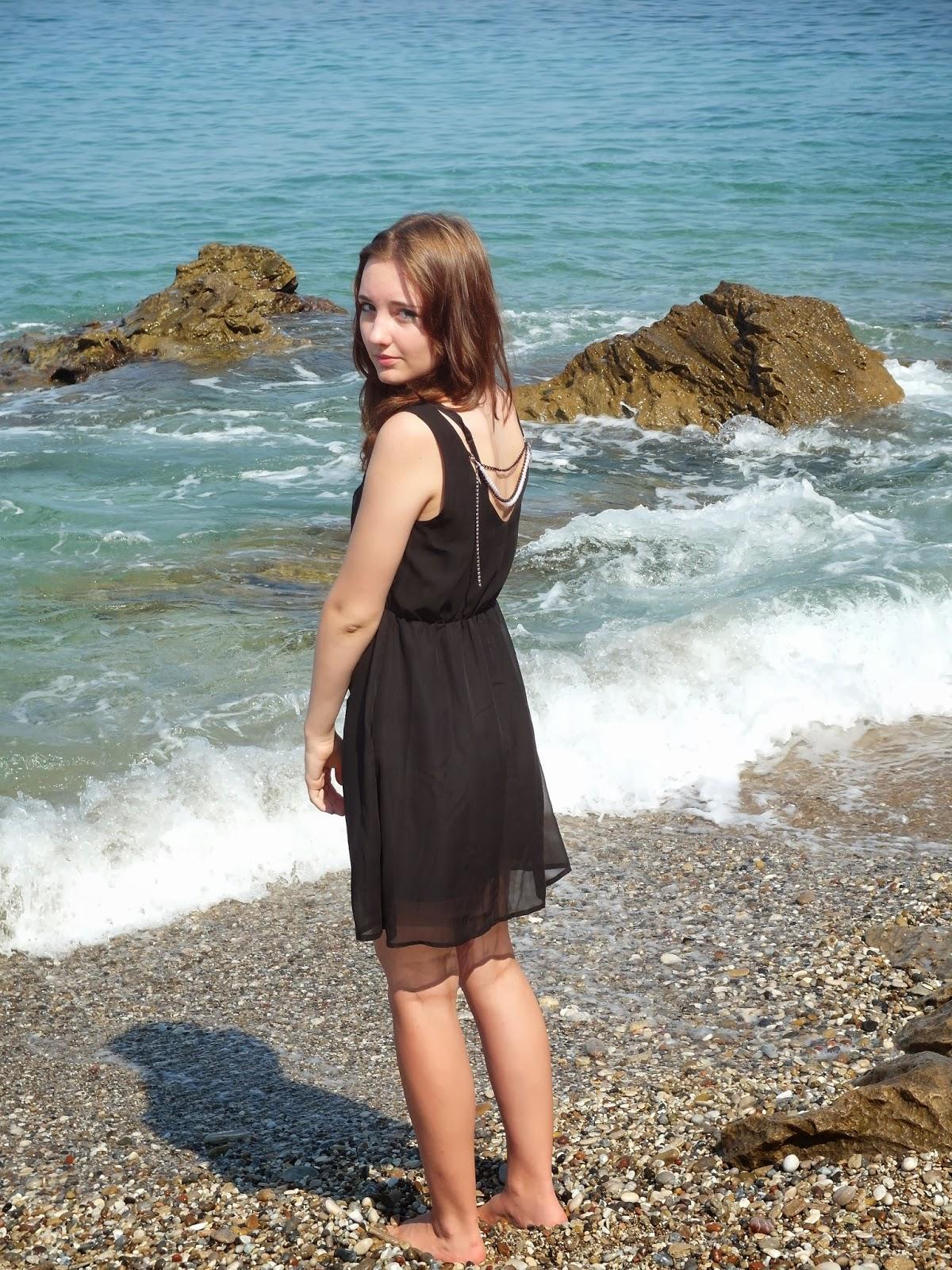 Pláž v oblasti Mytikas Řecko