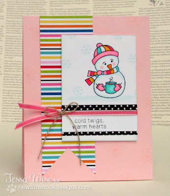 Snowman card by Tessa Wise for Newton's Nook Designs Inky Paws Challenge