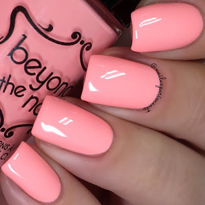 beyond the nail scorching coral swatch soft neons