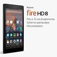 Nuovo tablet Fire HD 8 di Amazon