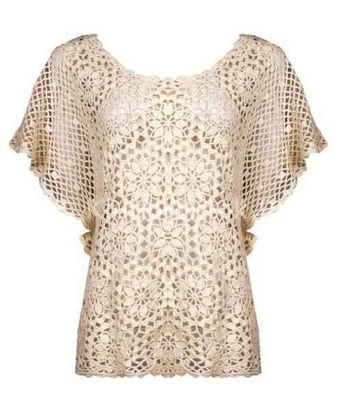 Patrón #761: Blusa Vintage a Crochet