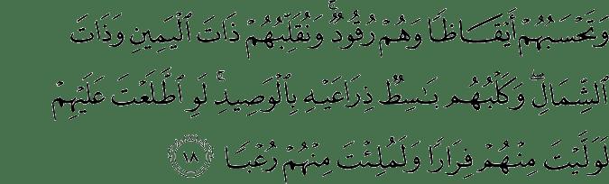 Surat Al Kahfi Ayat 18