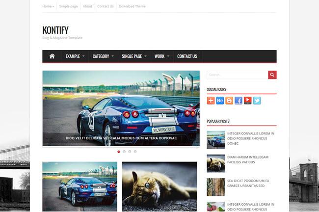 Kontify - Magazine Blogger Template