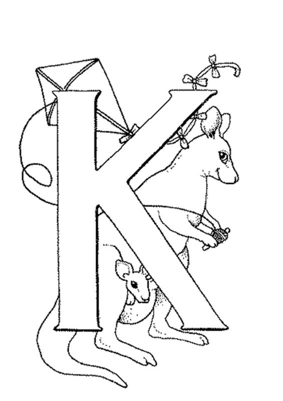 Alphabets Gambar Mewarnai K
