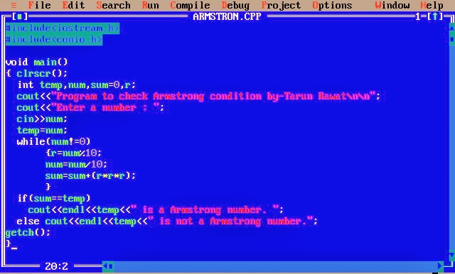 Write a C program to check Armstrong number