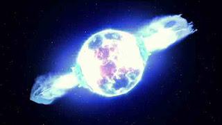 Arrow piercing a supernova