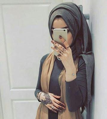 Muslim Girl Face Hidden Profile Pic