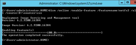 dism install framework35