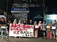 MAHASISWA IPPM UNISMUH GALANG DANA BANTU KORBAN KEBARAN PULAU PODANG-PODANG